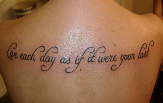 inspirational tattoo live life to the fullest body art