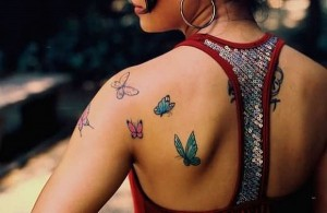 Upper-Shoulder-Butterfly-Tattoo