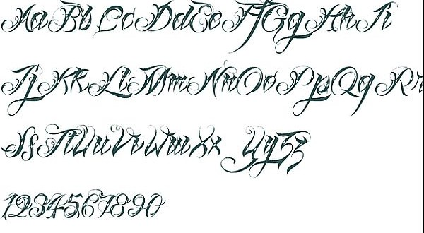 Letter Fonts Styles Generator Sun Tattoo Images