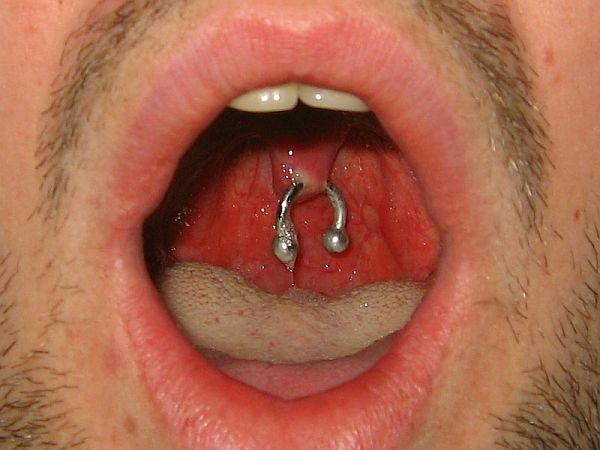 Uvula piercing