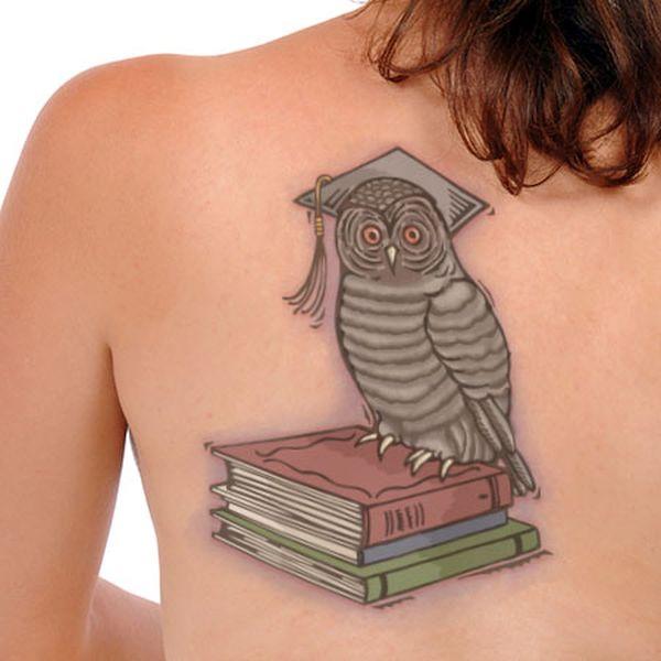 Girl's owl tattoos