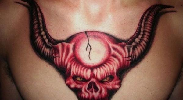 The horned red devil