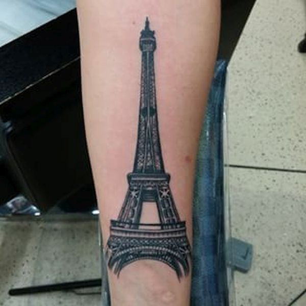 Eiffel tower tattoo