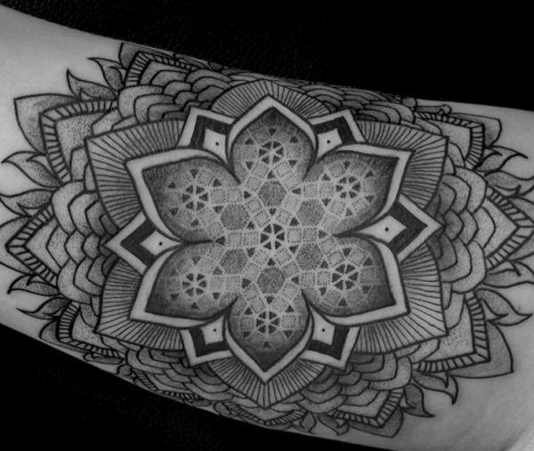 Line tattoos by Chaim Machlev